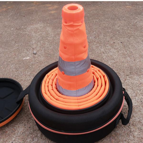 Car Safety Emergency Warning Sign Board Telescopic Tripod Roadblock Cones Inflator Air Pump Safety Emergency Tool Kit Three Foot Frame DHL