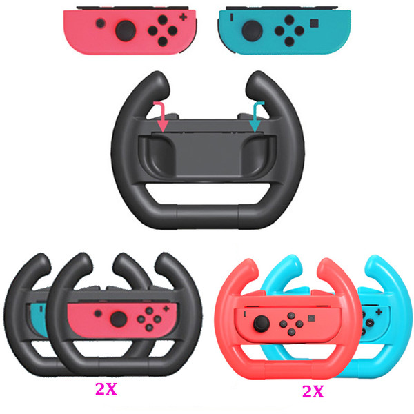 NS Accessories Left & Right Joy-Con Grip Racing Game Steering Wheel Controller Grip for Nintend Switch Joy-Con Joystick Gamepad