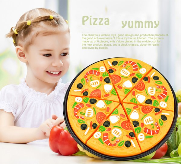 11 pcs / set Pizza Toy Kids Faire semblant de jouer Fake Food Party Cooking Couper garçons filles jouant Creative Child's Gift 3+ dropship