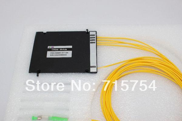 Dual Fiber , 4Channel CWDM Mux/Demux fiber optical modules,Low insertion Loss, with ABS box, 1470nm~1610nm