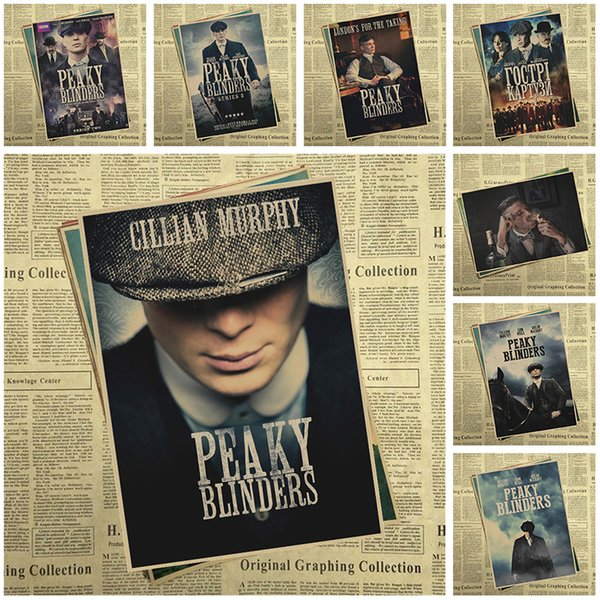 Peaky blinder Movie Kraft Paper Poster Bar Cafe Vintage High quality Printing Drawing core Decorative Painting