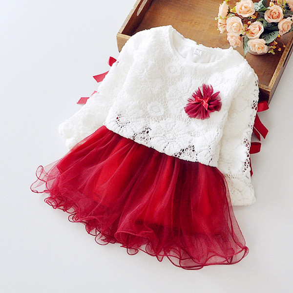 Boutique summer Children's clothing sweet thin yarn tutu dress +gift one Brooch flowers Two-piece Cotton Girls dresses Free Shipping H012