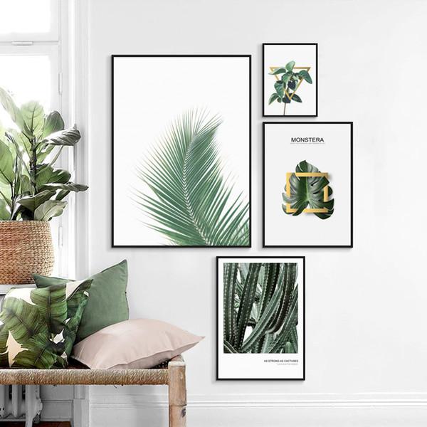 Großhandel Moderne Dekorative Tropische Grüne Pflanze Leinwand Malerei  Poster Und Drucke Wandkunst Bilder Wohnzimmer Dekoration Home Wandbilder  Von ...