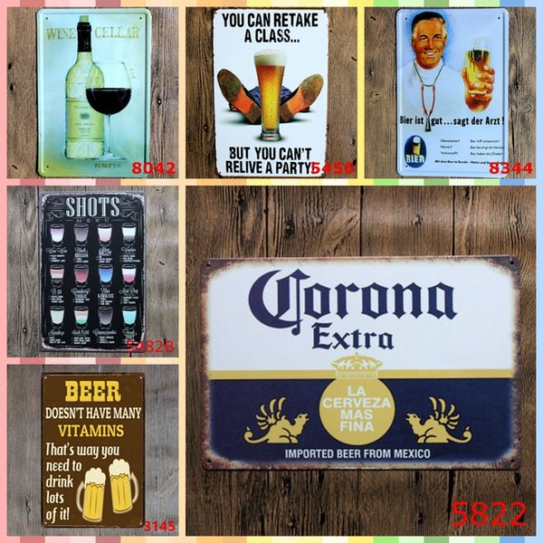 ICE COLD BEER FREE Retro 20*30cm Luxury Home Decor Posters Metal Tin Signs Arts and Crafts Bedroom Wall Decorations Art Painting supplies