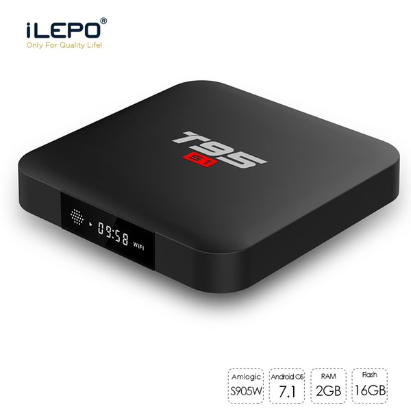 T95 S1 Smart TV BOX Amlogic S905W Quad Core Android 7.1 TV BOX OS 2GB RAM 16GB ROM 2.4GHz WiFi 4K