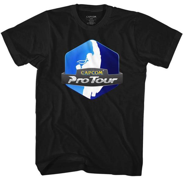 STREET FIGHTER мужская с коротким рукавом футболка черный PRO TOUR летняя мода Tee удобная повседневная с коротким рукавом футболка