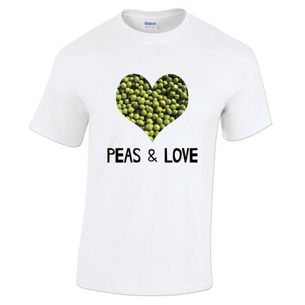 Cartoon Hip Hop T Shirt Men Men\'S Peas Love Peace Pun Funny Hipster Heart  Geeky Nerd Gift Best Friend Shirts T Shirt Quotes Mens Dress Shirt From ...