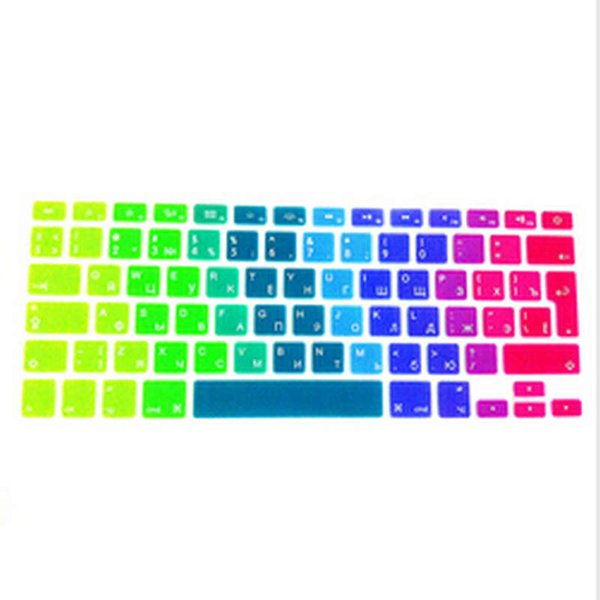 Russian UK Silicone Keyboard Cover Skin Protector For  MacBook Pro