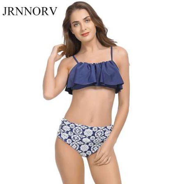 a7e07596ac Jrnnorv Tankini Bikinis pour les femmes maillots de bain taille haute maillot  de bain Halter Sexy