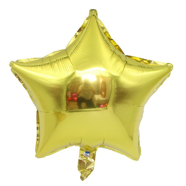 18 inch Five-pointed star Aluminum foil balloons wedding decoration love helium balloon inflatable air balloons party supplies