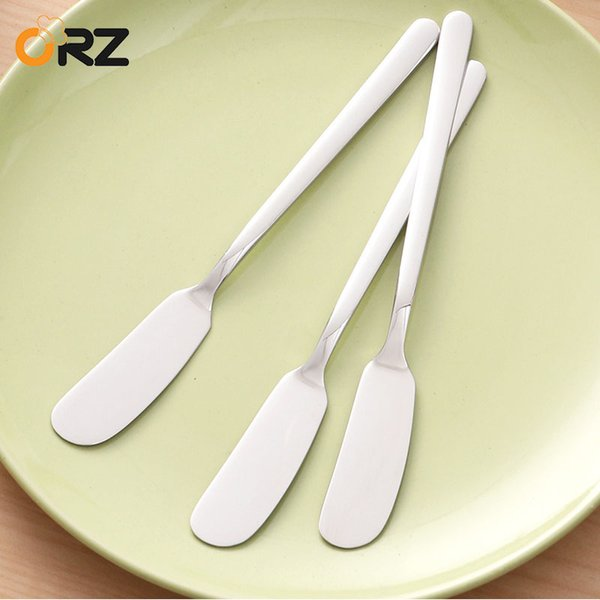 Eco-Friendly ORZ 3PCS Kitchen Tools Cutlery Butter Knievs Spatula Stainless Steel Cheese Dessert Jam Spreader Flatware Breakfast Tools