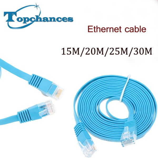 High Speed Cat6 Ethernet Flat Cable RJ45 Computer LAN Internet Network Cord 15m 20m 25m 30m/98.42ft High Quality