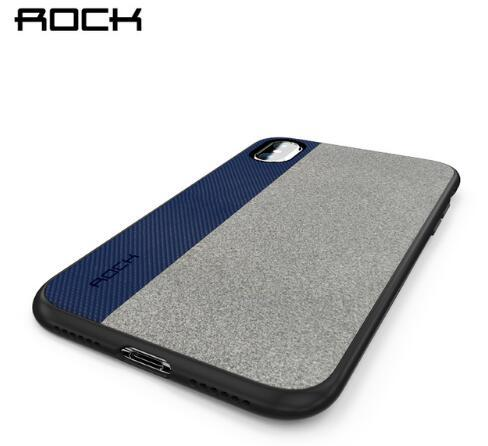 ROCK 2017 Newest Case for iPhone X 5.8inch Full Protection Back Case Slim TPU+Microfiber Splicing Material high quality