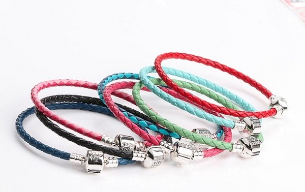 Factory Wholesale 3MM Cruciani Bracelets 3MM Snake Leather Wax Rope Fit Girls Charm Bead Bangle Bracelet Jewelry Gift For Men Women Charms