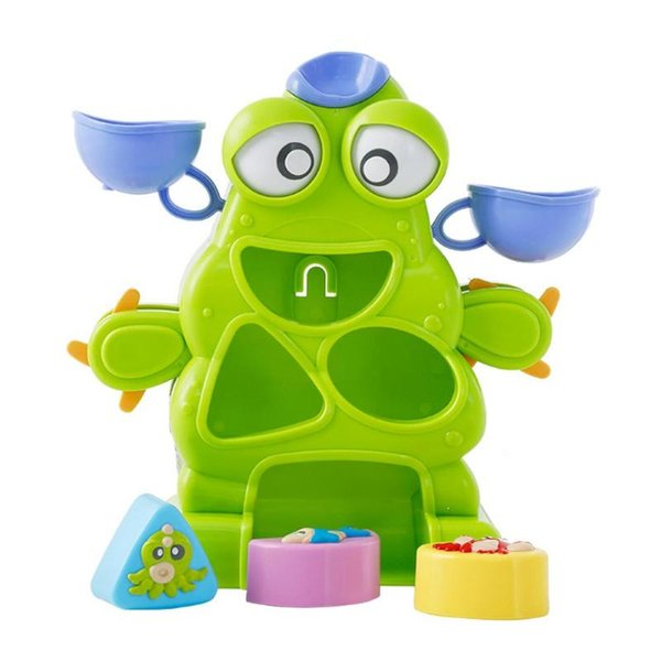Baby Bath Toys Cute Monster Kids Shower Water Toys Waterwheel Beach Sand Playing Bathing Water Spraying Tool