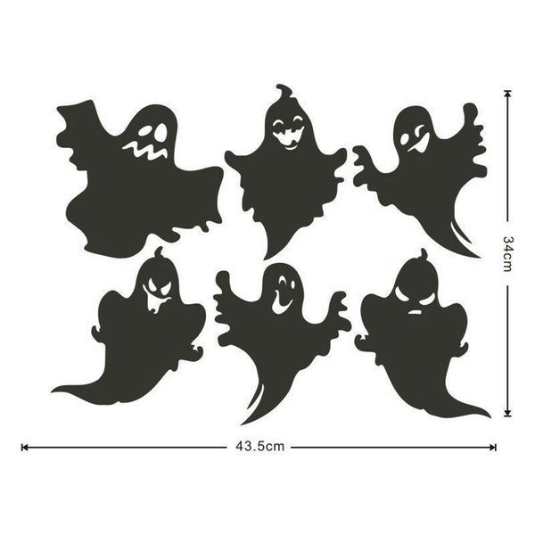 DIY Cute Funny 3D Effect Creative Ghost Halloween Sticker Mural Festival Vinyl Decal Poster Wallpaper Party Living Room Home Decoration Gift