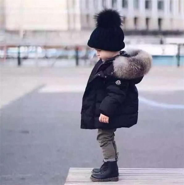 Bebek Erkek Ceket Sonbahar Kış Çocuklar Sıcak Kalın Kapüşonlu Ceket Çocuk Giyim Toddler Kız Erkek Giyim
