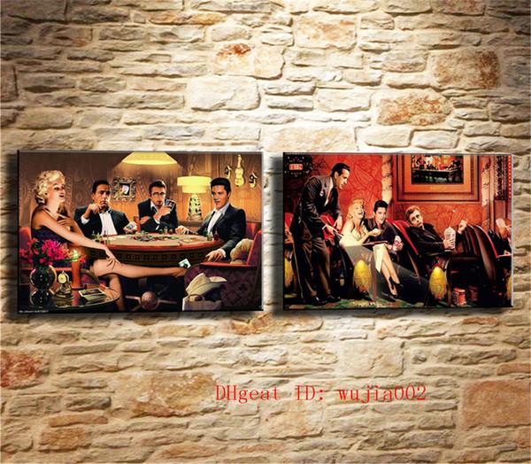 Marilyn Monroe, 2P Leinwand Malerei Wohnzimmer Wohnkultur Moderne Wandmalerei Ölgemälde