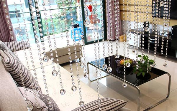 ISHOWTIENDA Neue 1 STÜCK Deckeninstallation Kristall Glasperle Vorhang Luxus Wohnzimmer Schlafzimmer Fenster Tür Hochzeit Decor