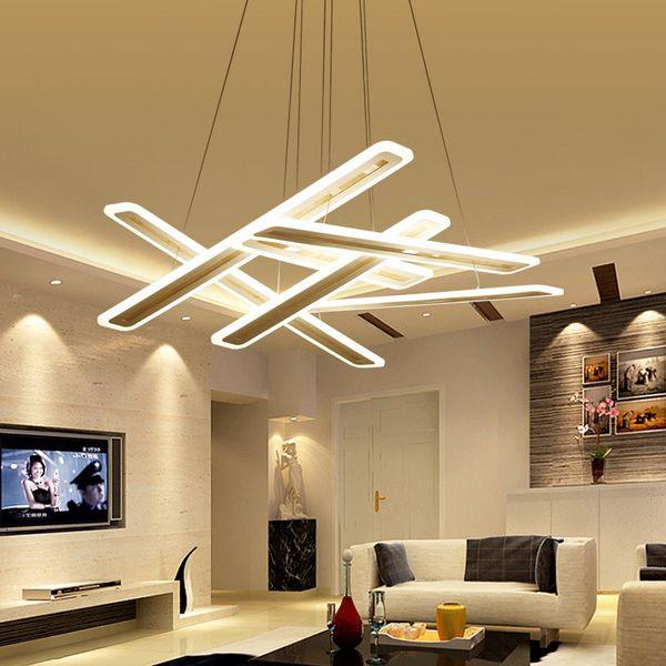 Led Strips Overlap Pendant Lights Crossing Rectangle Acrylic Ceiling Lamp Outdoor Pendant Lighting Led Pendant Lights From Greatlight520 288 33
