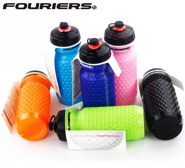 Fouriers Radfahren Wasserflasche LDPE Druck Golf Grübchen 600c Sport Flaschen Fahrrad Flasche
