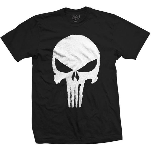 Ufficiale The Punisher Frank Castle Marvel Comics T-Shirt personalizzato stampato maglietta hip-hop divertente camicie commercio all'ingrosso di trasporto libero