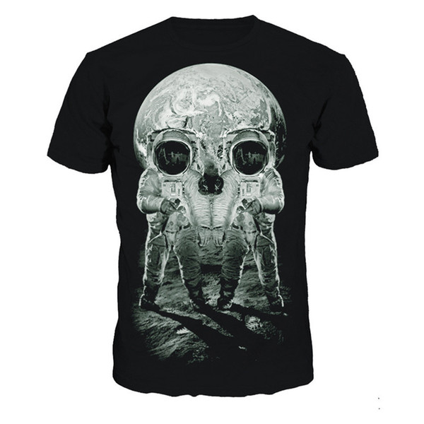 Astronaut Skulls Print t-shirt Men Plus Size Hot Sale T-Shirt Skull 3D Tshirt Fitness Mens New Arrival Short Sleeve T-Shirt