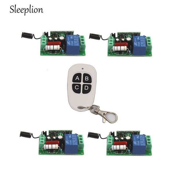 Sleeplion 4 Ways ON/OFF 220V 10A Wireless Remote Control Switch Digital Wireless Remote Control Switch for Lamp Light Fan