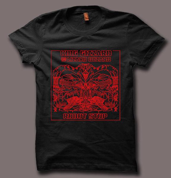 King Gizzard et Lizard Wizard Noir Blanc Gris Hommes Femmes Unisexe T-shirt Imprimer T-Shirt Harajuku Manches Courtes Hommes Haut