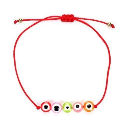 50pcs/lot mixed Lucky Hamsa String Evil Eye Lucky Red Cord Adjustable Bracelet DIY Jewelry