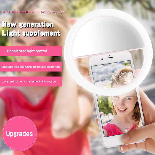 Portable Universal Selfie Ring Flash Lamp Mobile Phone LED Fill Light Selfie Ring Flash Lighting Camera Photography For All Cell Phone