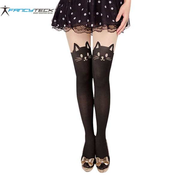 Cats Pantyhose Sexy Stockings Female Cute Cat Tail Stockings Leggings Female Nylon Women Long Sexy Hosiery