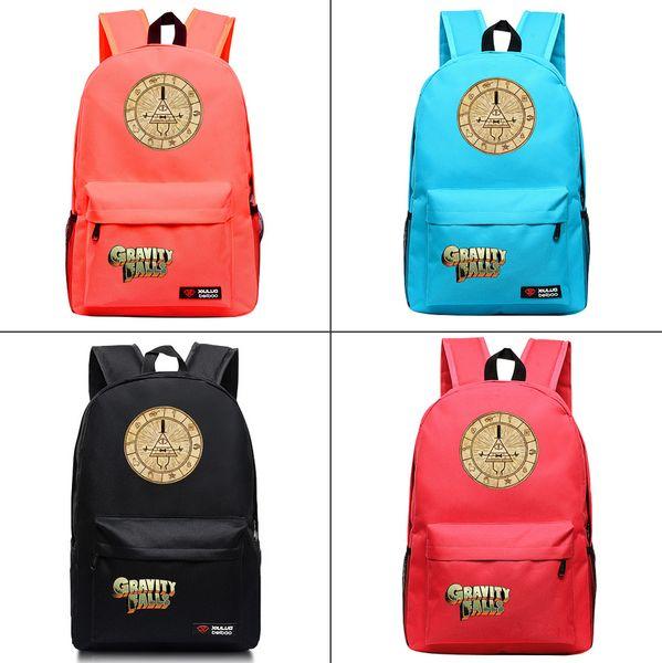 Anime Gravity Falls Bill Canvas Backpack Fashion Packsack Travel bag Student School bag Men's laptop Zip Rucksack Knapsack