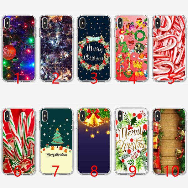 Christmas New Year Gifts Tree Animals Soft Silicone TPU Phone Case for iPhone 5 5S SE 6 6S 7 8 Plus X XR XS Max Cover