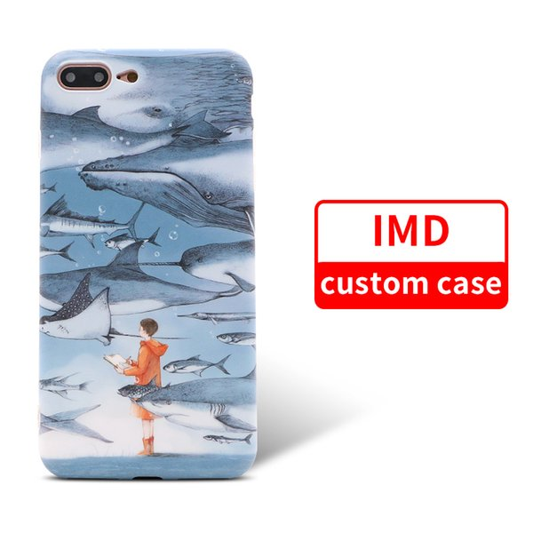 Custom High Quality IMD Fashion Case Logo Adding Phone Back Cover for iPhone 9 9 plus Samsung note 9 s9 Anti-Knock Protection Coque