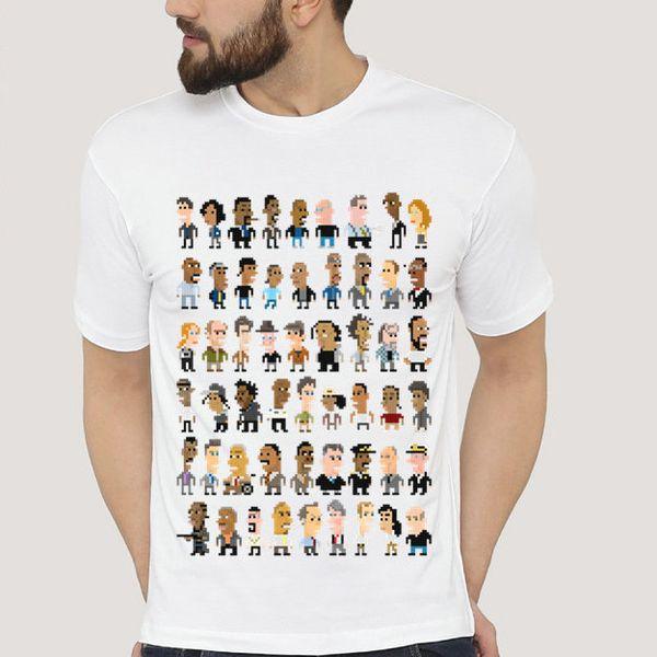 La maglietta a filo Tutti i personaggi del fumetto manica corta Cool word tees Abbigliamento sportivo unisex Maglietta modal color puro