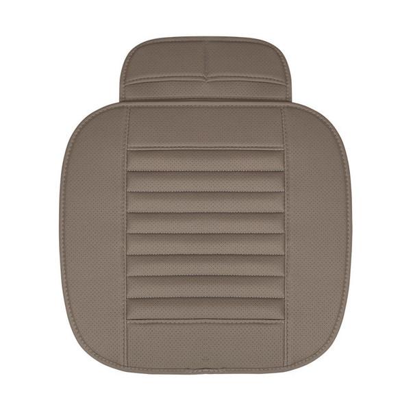 Qualité PU Car Seat Cover Respirant En Cuir Tapis de protection pour Auto Chair Cushion 1pc couverture de siège avant Gris Couleur Orange Couleur 2PCS