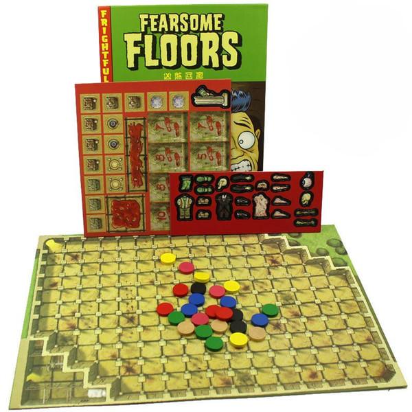 Tarjetas de juego de tablero de pisos de miedo 2 a 7 jugador con instrucciones de inglés Juegos de niños de adulto de novela para partido creativo 20 5cj YY