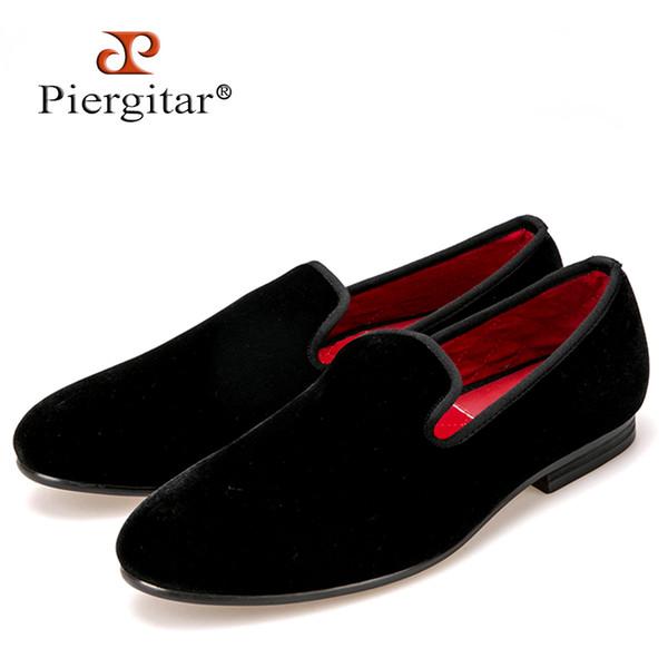Top fashion and classic men plain velvet handmade loafers multi color choice men somking slippers Plus size men dress shoes