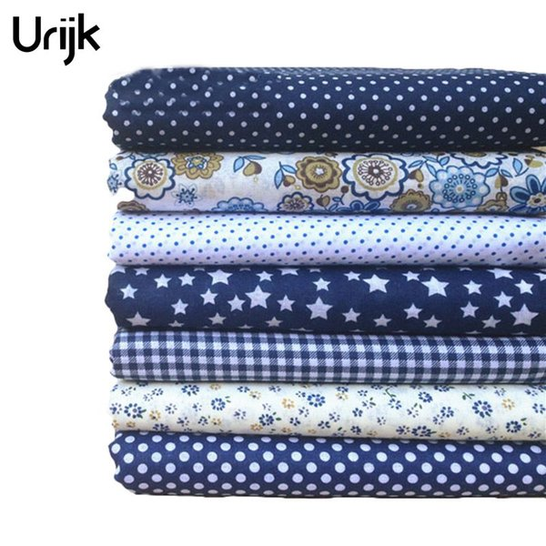 Urijk 7PCs Mixed Cotton Fabric DIY Handmade Sewing Home Decoration Cheap Fabrics For Patchwork Needlework Accessories 25x25cm