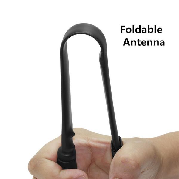 Abbree Flat Gain Foldable Antenna Long Range SMA-Female Connector VHF UHF 144/430Mhz For Walkie Talkie Baofeng UV-5R Tyt etc
