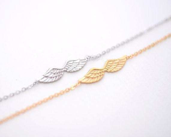 2018 Fashion bracelets for girls silver plated bracelets Angel Wings bracelet for women wholesale free shipping
