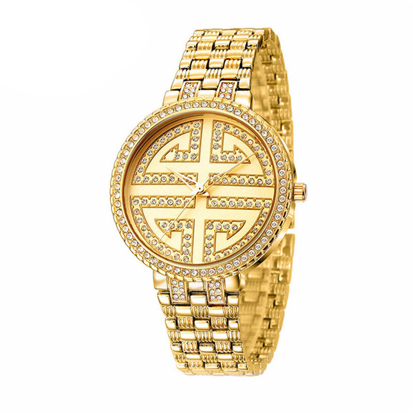 Standard female models Chinese knot creative diamond fashion noble quartz watch waterproof female watch