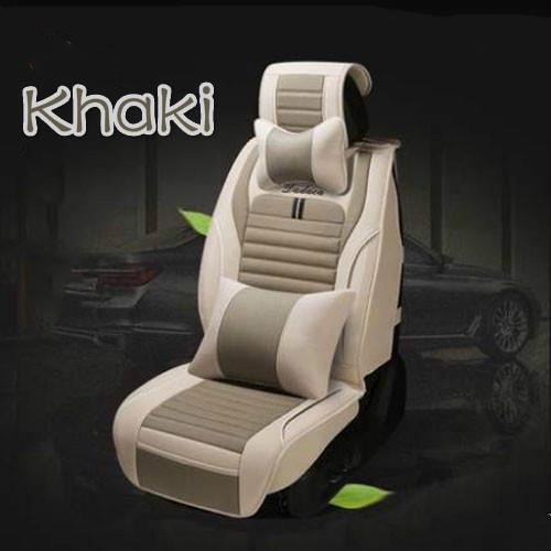 Four season all clusive flax breathable full set car seat cover for Toyota RAV4,COROLLA,Levin,Camry
