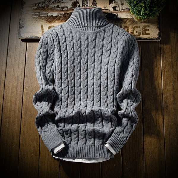 BKTrend 2017 New Fashion Men's Turtleneck Sweater Thick Warm Male Winter Pullovers Man's Knitwear Slim Fit Brand Clothes MY8826 S1015
