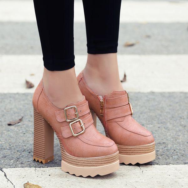 Legen New Elegant Women Ankle Boots Platform SquareToe Square Booties Female Shoes Woman Black Pink Grey Dark Grey Nice Shoes for Woman