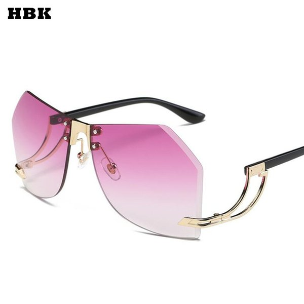 2017 new güneş gözlüğü kadın erkek boy kare gözlük uv400 degrade eski marka tasarımcı gözlük çerçeveleri çerçevesiz cam