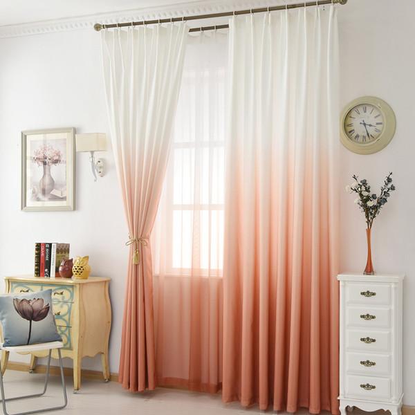 NAPEARL 1pcs Eco Friendly Farbe Farbverlauf Vorhang Design Für Wohnzimmer  Schlafzimmer Farbverlauf Rot / Gelb / Grau / Blau / Grün Farbe Moderne  Vorhänge