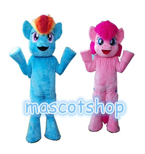 My Little Characters Mascot Costumes Adult Unisex Suit For Halloween Christmas