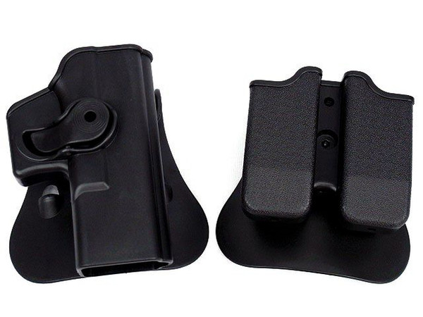 Polymer Retention Roto Right-Handed Holster Fits GL OCK 17/22/31 & Double magazine Pouch 9x19mm ,40S&W ,357SIG